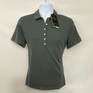 Men's Callaway NWT Gray Golf Shirt Size L Q-68